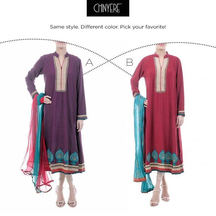 Latest Party Wear Fancy & Embroidered Dresses by Chinyere Party Wear Collection 2015-2016 (2)