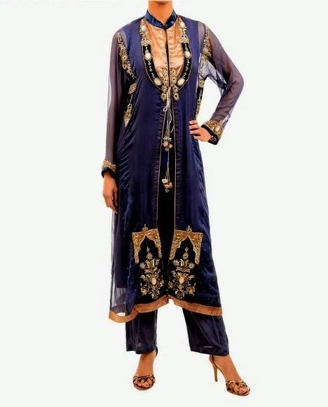 Latest Party Wear Fancy & Embroidered Dresses by Chinyere Party Wear Collection 2015-2016 (26)