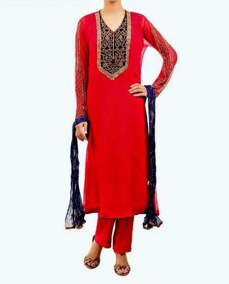Latest Party Wear Fancy & Embroidered Dresses by Chinyere Party Wear Collection 2015-2016 (28)