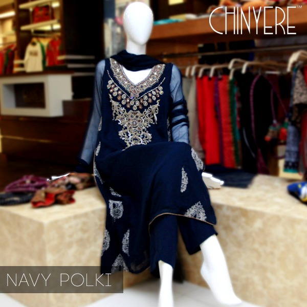 Latest Party Wear Fancy & Embroidered Dresses by Chinyere Party Wear Collection 2015-2016 (8)