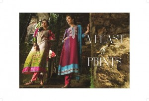 Maria B Indian Pashmina Collection Winter Linen Dresses 2014-15 for Women