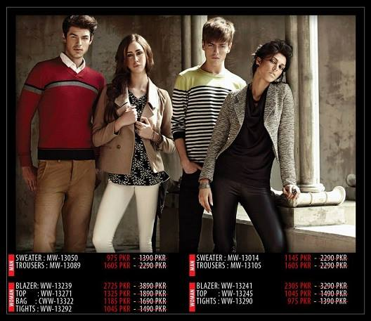 Outfitters Latest Western Wear Casual Dresses Winter Fall Collection for Modern Boys & Girls 2014-2015 (3)