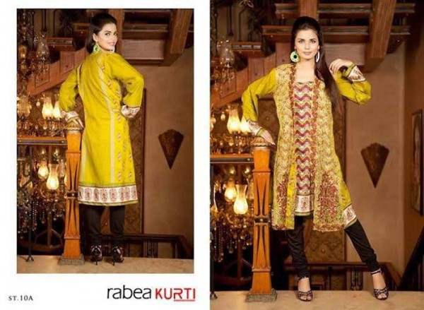 Rabea By Shariq Textile Latest Women Kurtis Tunics Designs Collection 2015-2016 (15)