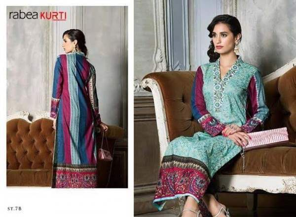 Rabea By Shariq Textile Latest Women Kurtis Tunics Designs Collection 2015-2016 (18)