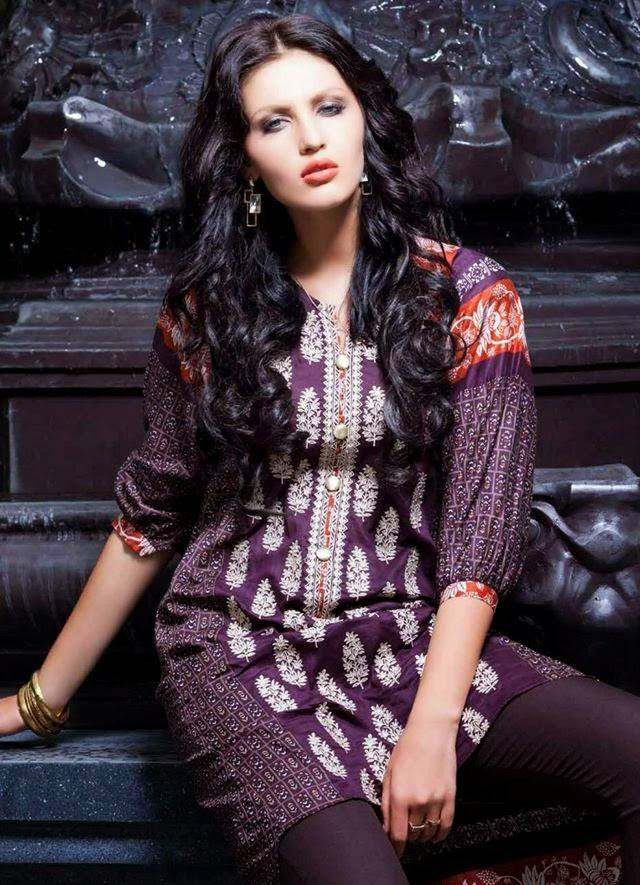Rabea By Shariq Textile Latest Women Kurtis Tunics Designs Collection 2015-2016 (2)