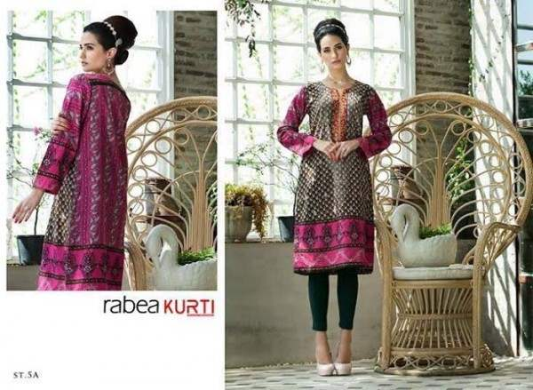 Rabea By Shariq Textile Latest Women Kurtis Tunics Designs Collection 2015-2016 (21)