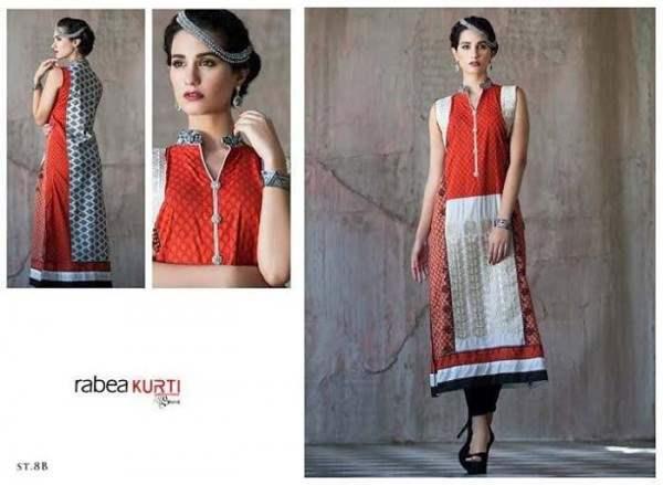 Rabea By Shariq Textile Latest Women Kurtis Tunics Designs Collection 2015-2016 (24)
