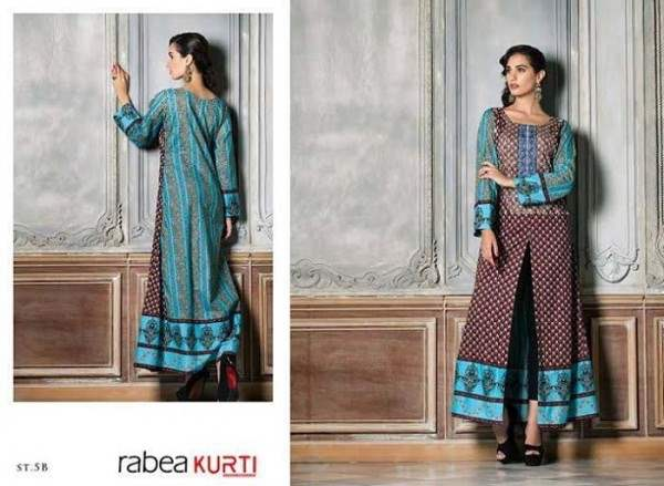 Rabea By Shariq Textile Latest Women Kurtis Tunics Designs Collection 2015-2016 (26)
