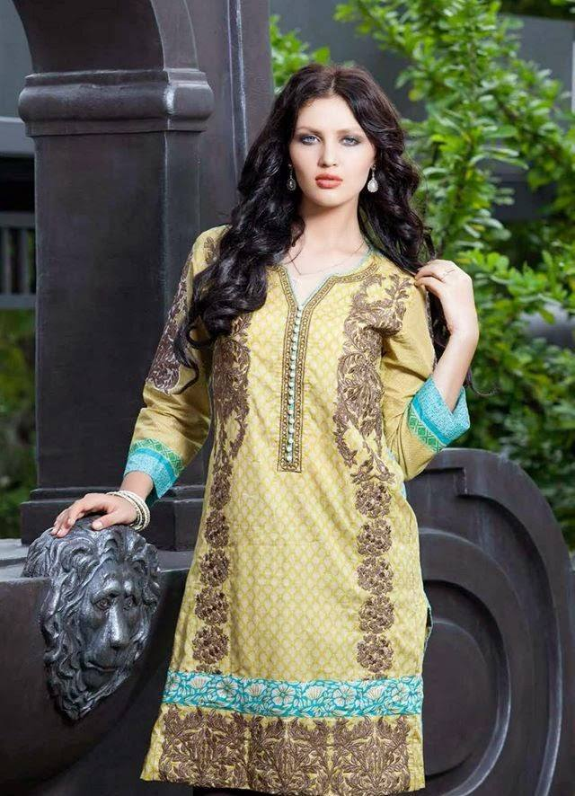 Rabea By Shariq Textile Latest Women Kurtis Tunics Designs Collection 2015-2016 (3)