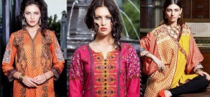Latest Kurtis/ Tunics Trends By Rabea Shariq Textile Kurti Collection 2015-2016
