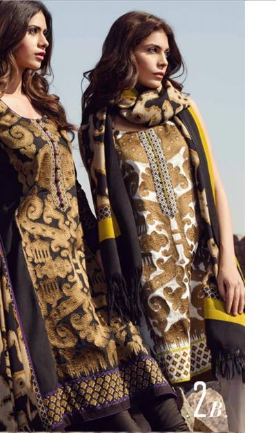 Sana Safinaz Latest Designer Winter Shawl Dresses Collection 2014-2015 for Women (1)