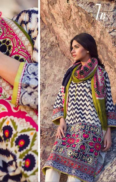 Sana Safinaz Latest Designer Winter Shawl Dresses Collection 2014-2015 for Women (10)