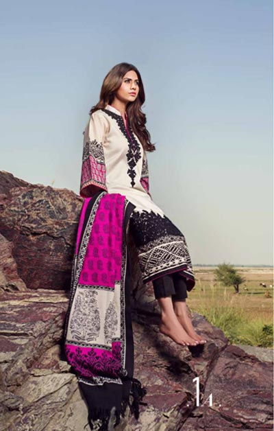 Sana Safinaz Latest Designer Winter Shawl Dresses Collection 2014-2015 for Women (14)