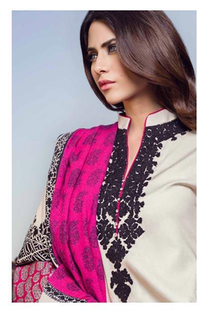 Sana Safinaz Latest Designer Winter Shawl Dresses Collection 2014-2015 for Women (15)