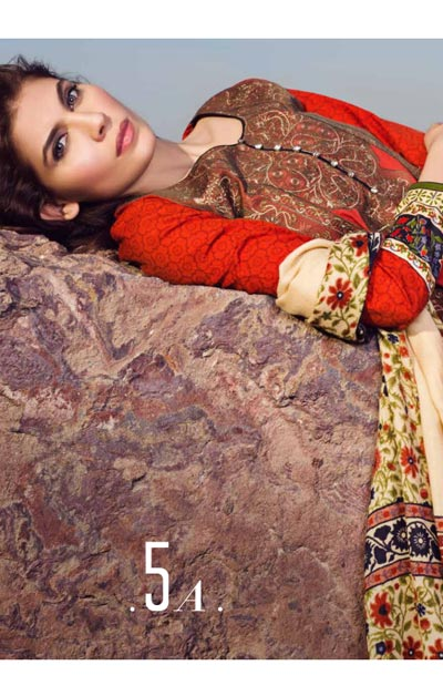Sana Safinaz Latest Designer Winter Shawl Dresses Collection 2014-2015 for Women (16)