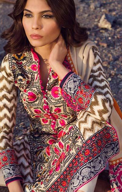 Sana Safinaz Latest Designer Winter Shawl Dresses Collection 2014-2015 for Women (17)