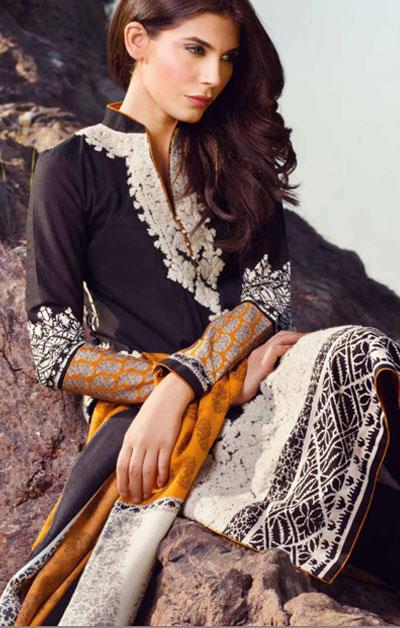 Sana Safinaz Latest Designer Winter Shawl Dresses Collection 2014-2015 for Women (20)