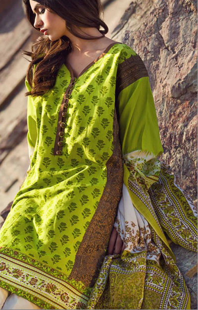 Sana Safinaz Latest Designer Winter Shawl Dresses Collection 2014-2015 for Women (21)