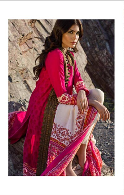 Sana Safinaz Latest Designer Winter Shawl Dresses Collection 2014-2015 for Women (22)