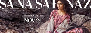 Sana Safinaz Winter Shawl Dresses Collection for Women 2014-15