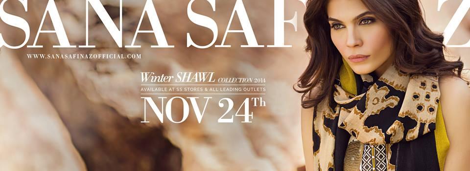 Sana Safinaz Latest Designer Winter Shawl Dresses Collection 2014-2015 for Women (27)
