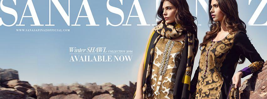 Sana Safinaz Latest Designer Winter Shawl Dresses Collection 2014-2015 for Women (29)