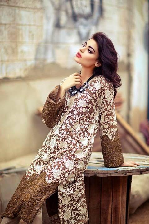 Sana Safinaz Latest Designer Winter Shawl Dresses Collection 2014-2015 for Women (30)