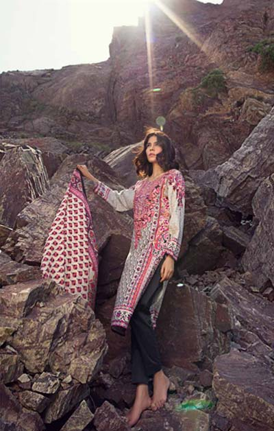 Sana Safinaz Latest Designer Winter Shawl Dresses Collection 2014-2015 for Women (5)