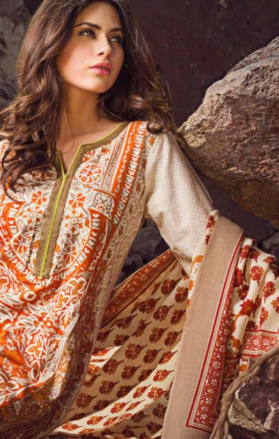 Sana Safinaz Latest Designer Winter Shawl Dresses Collection 2014-2015 for Women (6)