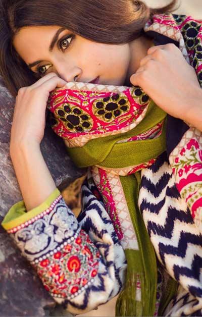 Sana Safinaz Latest Designer Winter Shawl Dresses Collection 2014-2015 for Women (9)