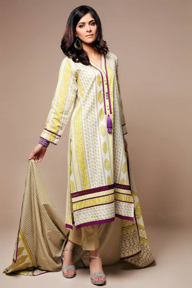 Satrangi By Bonanza Latest Cambric Collection Ready To wear Dresses for Ladies 2014-2015 (1)