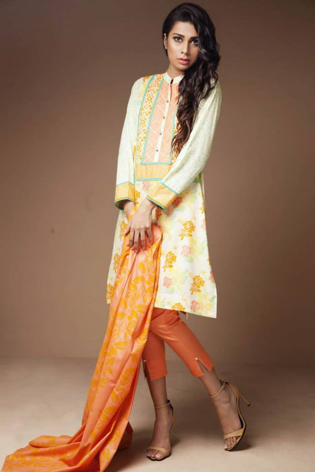 Satrangi By Bonanza Latest Cambric Collection Ready To wear Dresses for Ladies 2014-2015 (10)