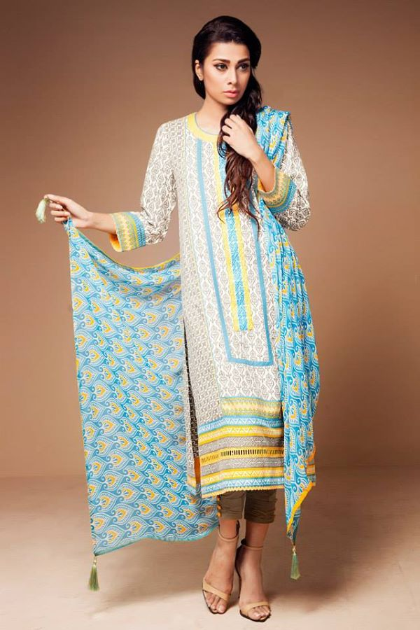 Satrangi By Bonanza Latest Cambric Collection Ready To wear Dresses for Ladies 2014-2015 (12)