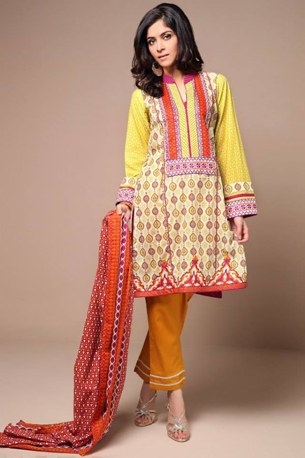 Satrangi By Bonanza Latest Cambric Collection Ready To wear Dresses for Ladies 2014-2015 (13)