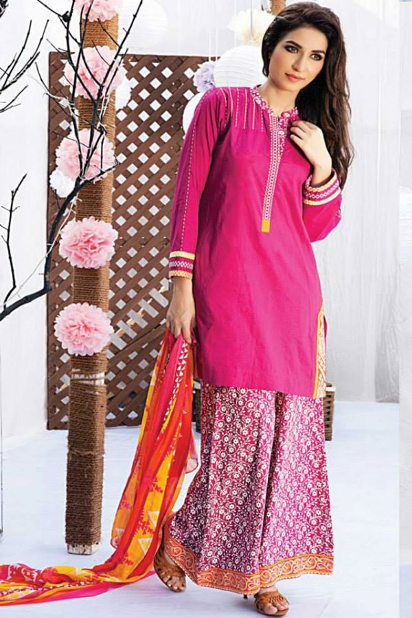 Satrangi By Bonanza Latest Cambric Collection Ready To wear Dresses for Ladies 2014-2015 (15)
