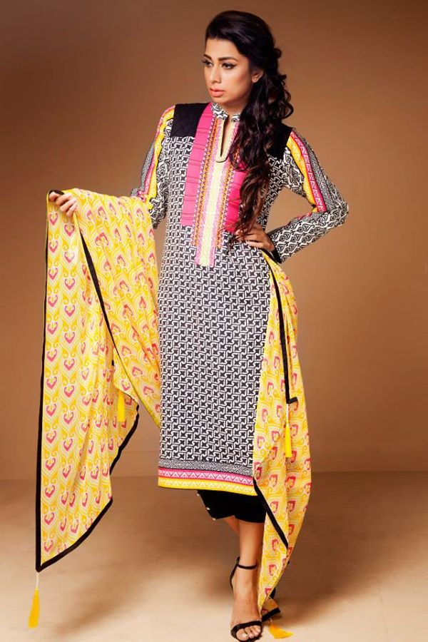 Satrangi By Bonanza Latest Cambric Collection Ready To wear Dresses for Ladies 2014-2015 (19)