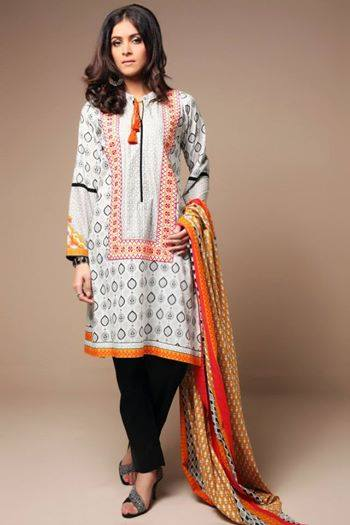 Satrangi By Bonanza Latest Cambric Collection Ready To wear Dresses for Ladies 2014-2015 (2)
