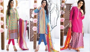 Satrangi Bonanza Cambric Ready To Wear Dresses Collection 2014-2015 for women