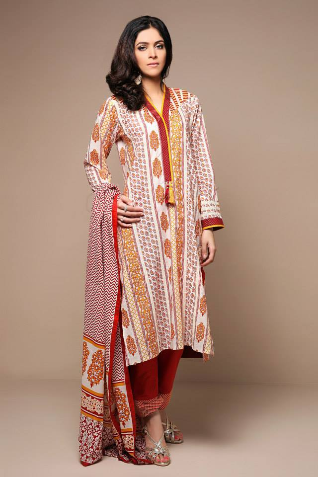 Satrangi By Bonanza Latest Cambric Collection Ready To wear Dresses for Ladies 2014-2015 (4)