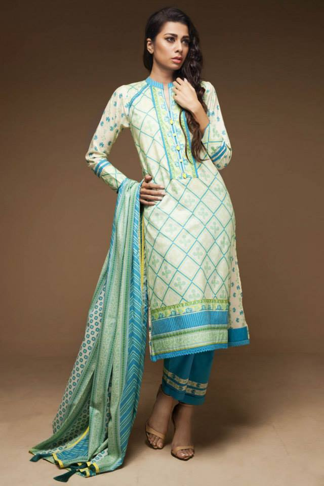 Satrangi By Bonanza Latest Cambric Collection Ready To wear Dresses for Ladies 2014-2015 (5)