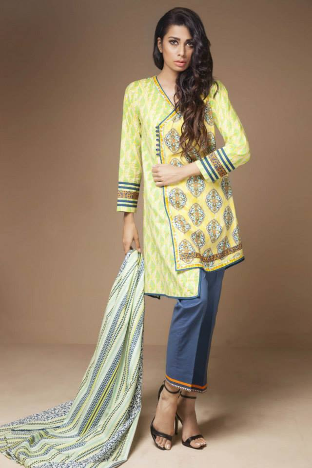 Satrangi By Bonanza Latest Cambric Collection Ready To wear Dresses for Ladies 2014-2015 (6)