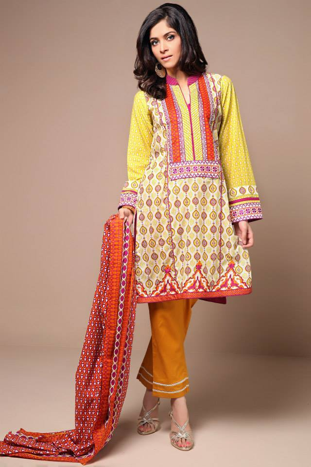 Satrangi By Bonanza Latest Cambric Collection Ready To wear Dresses for Ladies 2014-2015 (7)