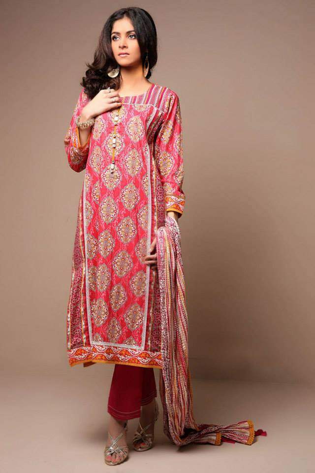 Satrangi By Bonanza Latest Cambric Collection Ready To wear Dresses for Ladies 2014-2015 (8)