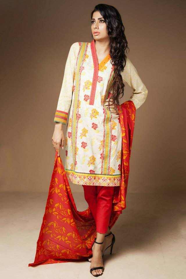 Satrangi By Bonanza Latest Cambric Collection Ready To wear Dresses for Ladies 2014-2015 (9)