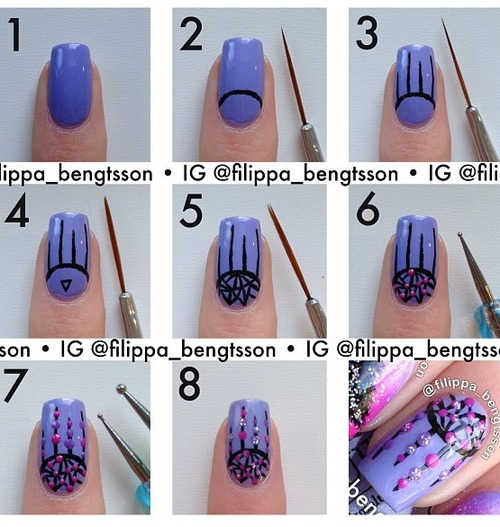 Simple & Easy Step by Step Nail Arts Tutorial with Pictures for Beginners (13)
