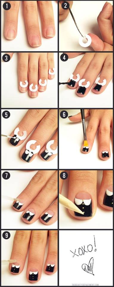 Simple Easy Step By Step Nail Arts Tutorial With Pictures For