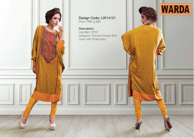 WARDA Designer Ready To Wear Dresses Winter Grace Collection 2014-15 for Women (21)