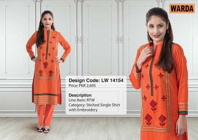 WARDA Designer Ready To Wear Dresses Winter Grace Collection 2014-15 for Women (4)