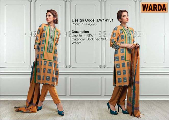 WARDA Designer Ready To Wear Dresses Winter Grace Collection 2014-15 for Women (6)