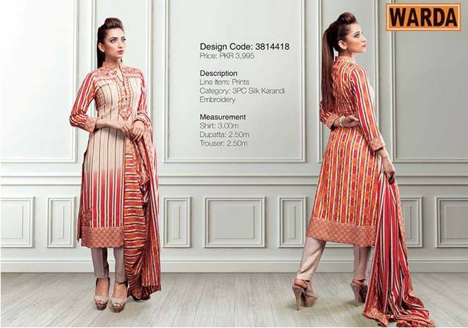 WARDA Designer Ready To Wear Dresses Winter Grace Collection 2014-15 for Women (7)